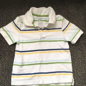 Boys 3T short-sleeve collar top.